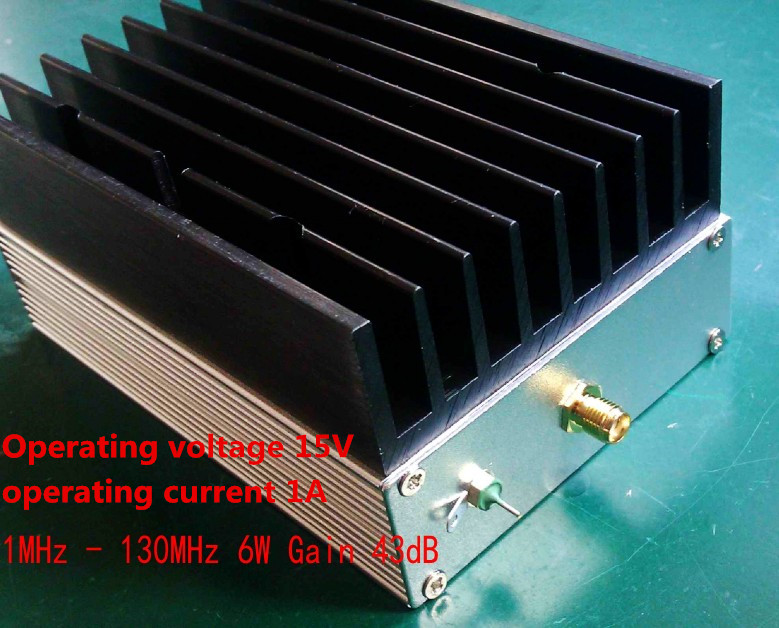 Ultra wideband RF amplifier HF amplifier linear amplifier 1MHz to 130MHz 6W 43dB