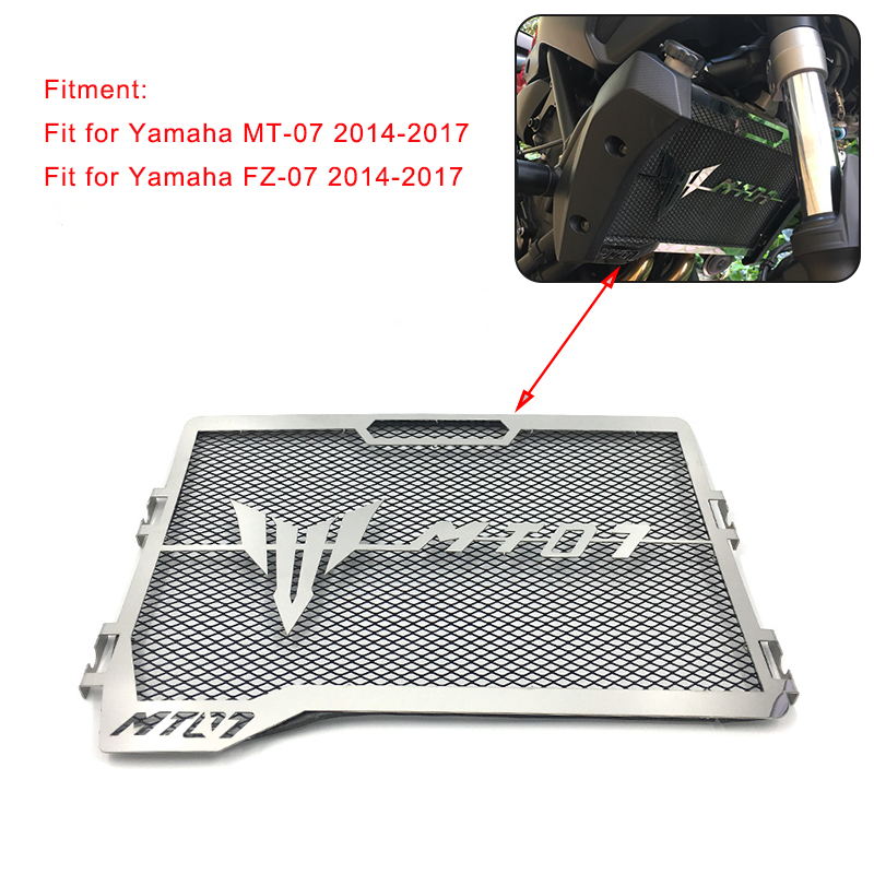Free Shipping Motorcycle Accessories Radiator Grille Guard Cover Protector for Yamaha MT-07 FZ-07 FZ07 MT07 2014 2015 2016 2017 2017 new black motorcycle radiator grille guard cover protector for yamaha mt07 mt 07 mt 07 2014 2015 2016 free shipping