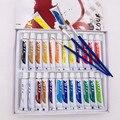24 шт.  профессиональные масляные краски для художников  холст  пигмент  товары для рисования  12 мл  24 цвета  бесплатная доставка  3 кисти