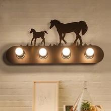 LED European Creative Simple Retro Interior Lighting Home Children's Bedroom Bedside Bar Mall Cafe KTV Leisure Hotel Wall Lamp цена