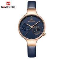 Naviforce New Women Watches Luxury Genuine Leather Women Wrist watch relogio feminino Clock Lady Quartz Ladies Watch