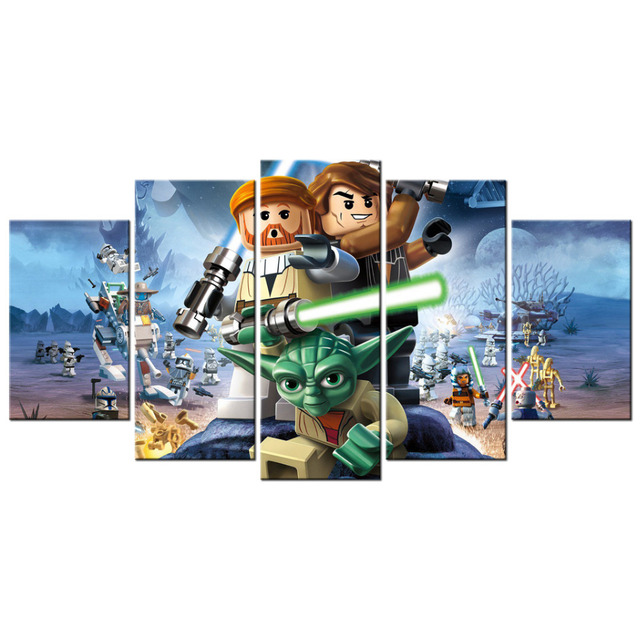 Contemporary Art LEGO Star Wars The Video Game Poster Canvas Living Room  Decor Pictures Prints Mural Part 90