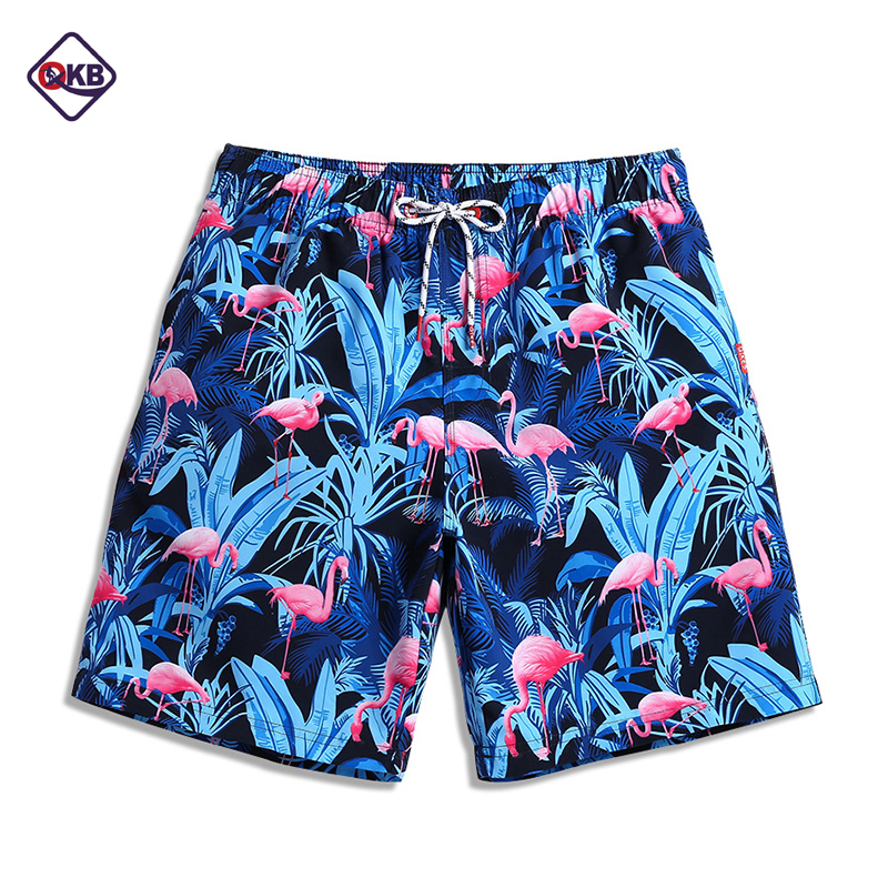 QIKERBONG Men Beach   Shorts     Board   Boxer Trunks   Short   Casual Quick Drying Bermuda   Short   Bottoms Pants Men's Swimwear Swimsuits