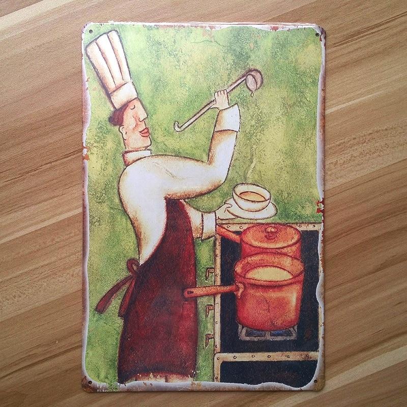 """Retro Decor """"Kitchen Chef """" Restaurant Wall Art Decor"""