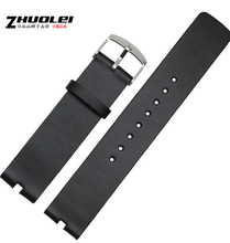 Hot Selling New arrvial 22mm Black 100% Genuine Leather Watchband Strap BANDS For Motorola Moto 360 Smart Watch