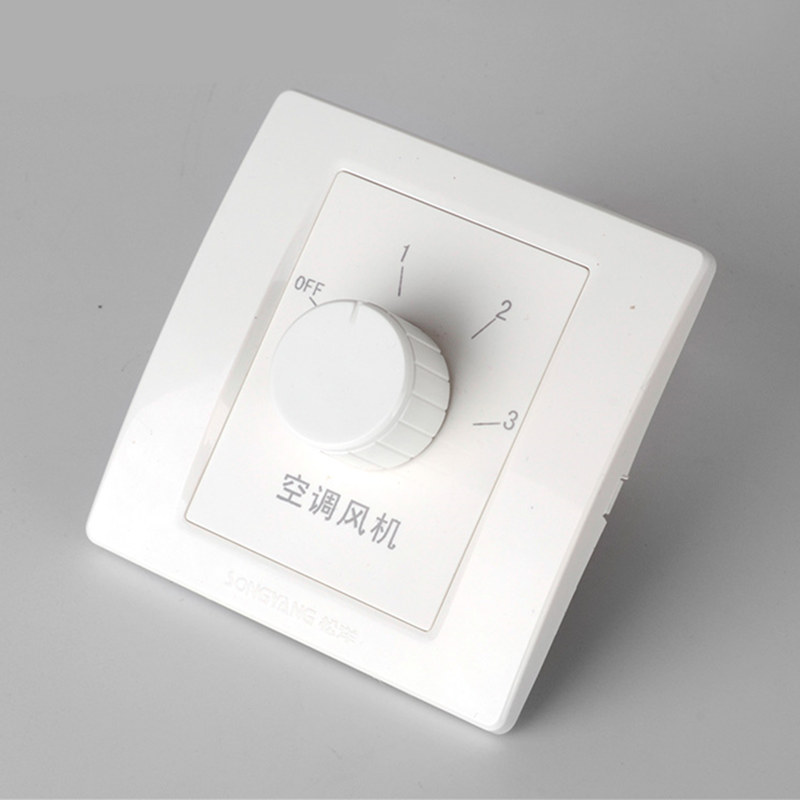 Central air conditioner fan switch, 3A temperature control chamber, wall three speed control switch, pipe panel controller ac 250v 20a normal close 60c temperature control switch bimetal thermostat