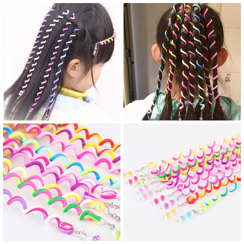 1pc Kids Curler Hair Braid Hair Sticker Kids Girl Decoration Hair Accesories Hair stylin ...