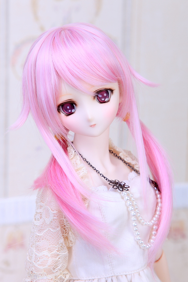 Cosplay 22-23cm Guilty Crown Yuzuriha Inori Cos Mixed color wig 1/3 BJD SD DD Doll Wig цена