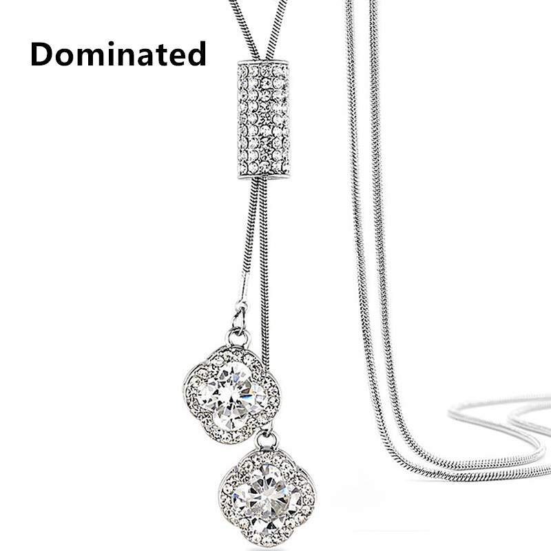 Dominated Women Pendant Necklaces Crystal Necklace Female