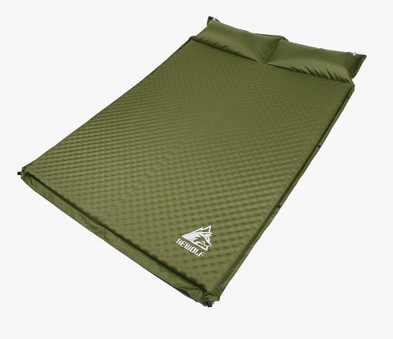 HEWOLF al aire libre 5 cm de espesor inflable automático cojín al aire libre tienda de campaña de doble inflable colchón de la cama 2 colores - 6