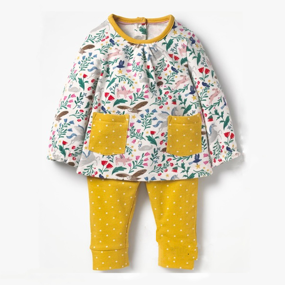 YUNY Newborn Baby Animal Cartoon Fall Winter Pants Romper Playsuit Orange 66