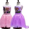 Marcas de Mi Ropa de Las Muchachas Vestidos de Little Pony Cola de Golondrina Vestido de Princesa Niña Sofía Boneca Princesa Sofia Vestido Kinder Kleider