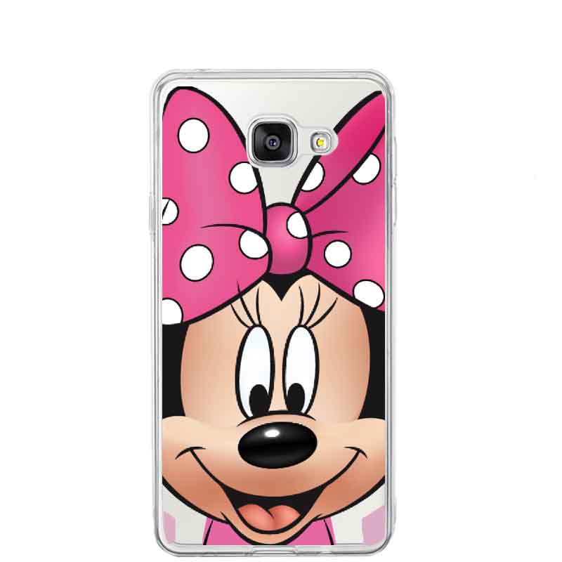 PINK Mickey Minnie Mouse For Samsung A3 A5 A7 A8 J1 J5 J7 2015 S3 S4 S5 S6 Plus S7 Edge Note 7 5 4 3 2 Donald Daisy Duck Cases