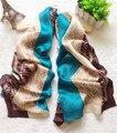 Lenço de seda Mulher de Alta Qualidade Da Moda Longo Macio Lenços De Cetim 100% seda Natural Lady Wraps Luxo Lenço Foulard Femme J3