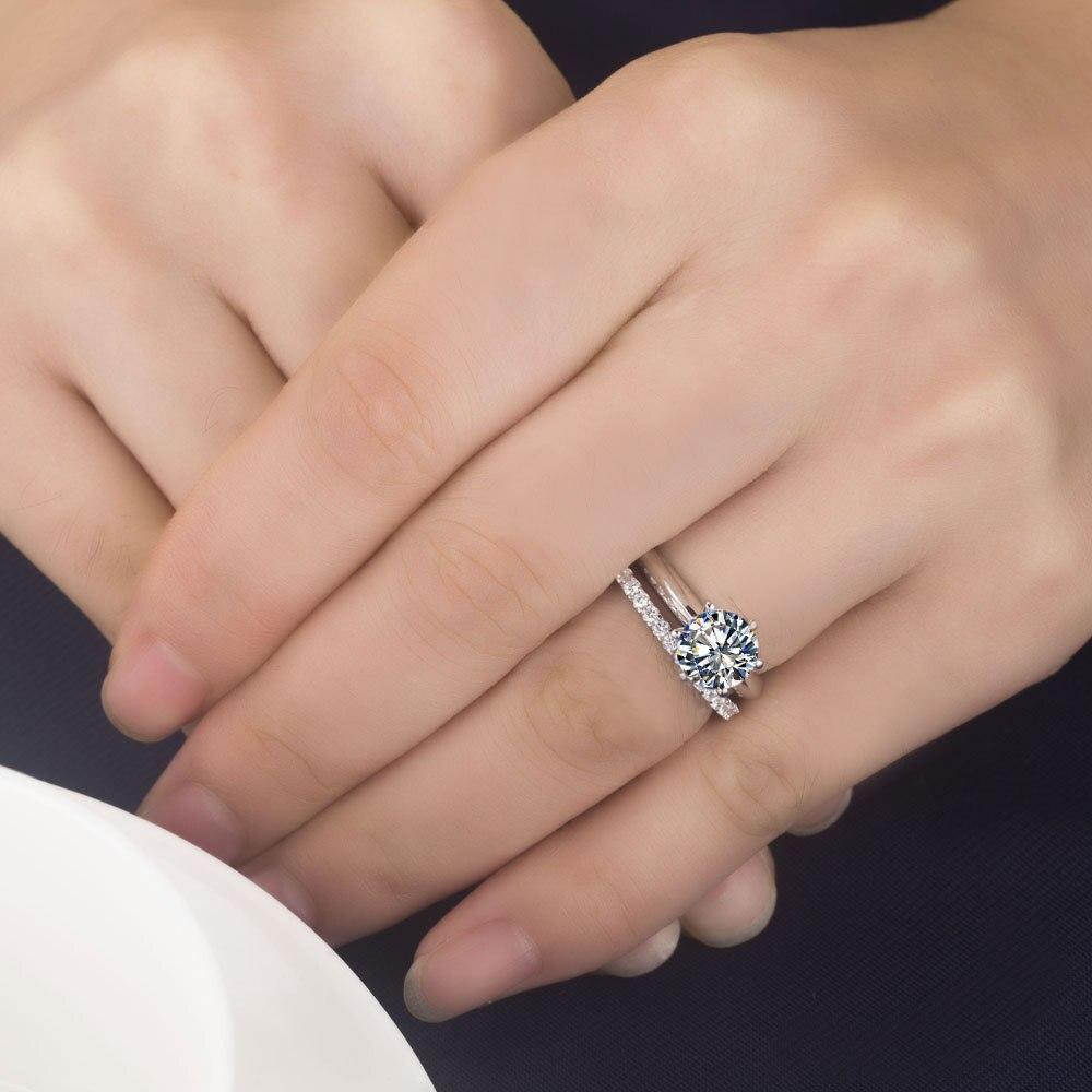 Excellent Fabulous 1carat Synthetic Diamonds Engagement Ring Super