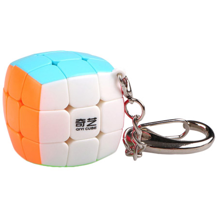 QiYi Mini Bread 3x3x3 Frosted Stickerless Cube Keychain 30mm