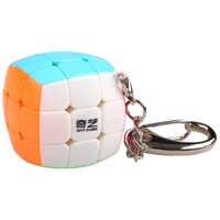Qiyi mini pão 3x3x3 fosco cubo stickerless chaveiro 30mm