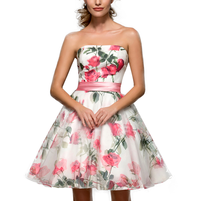 Online Buy Wholesale floral print cocktail dresses from China ...