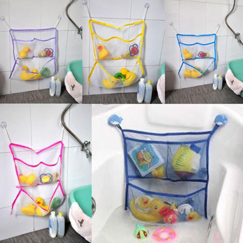 Kid Toy Home Suction Mesh Net Bag Bath Baby Storage Organizer Tidy Bathtub Eco-Friendly Child Cup Baskets Bathroom Holder