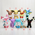 16-23cm Pikachu Eevee Sylveon Espeon Flareon Umbreon Glaceon Jolteon Vaporeon Leafeon Stuffed toy Doll Soft Plush Toys
