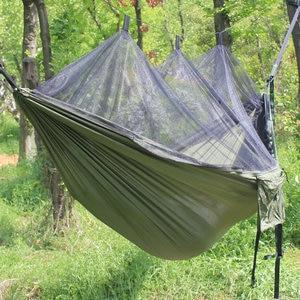 Image 5 - 超軽量パラシュートハンモック狩猟蚊帳hamac旅行ダブル人hamak用家具ハンモック