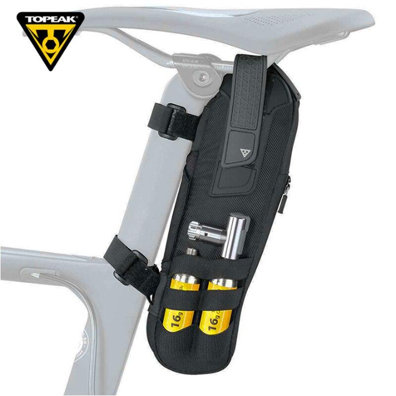 Topeak Tri-back Tirebag sacoche de selle de vélo vélo sac de pneu tubulaire de rechange vélo de route Triathlon Pack vtt haut Tube pochette de vitesse