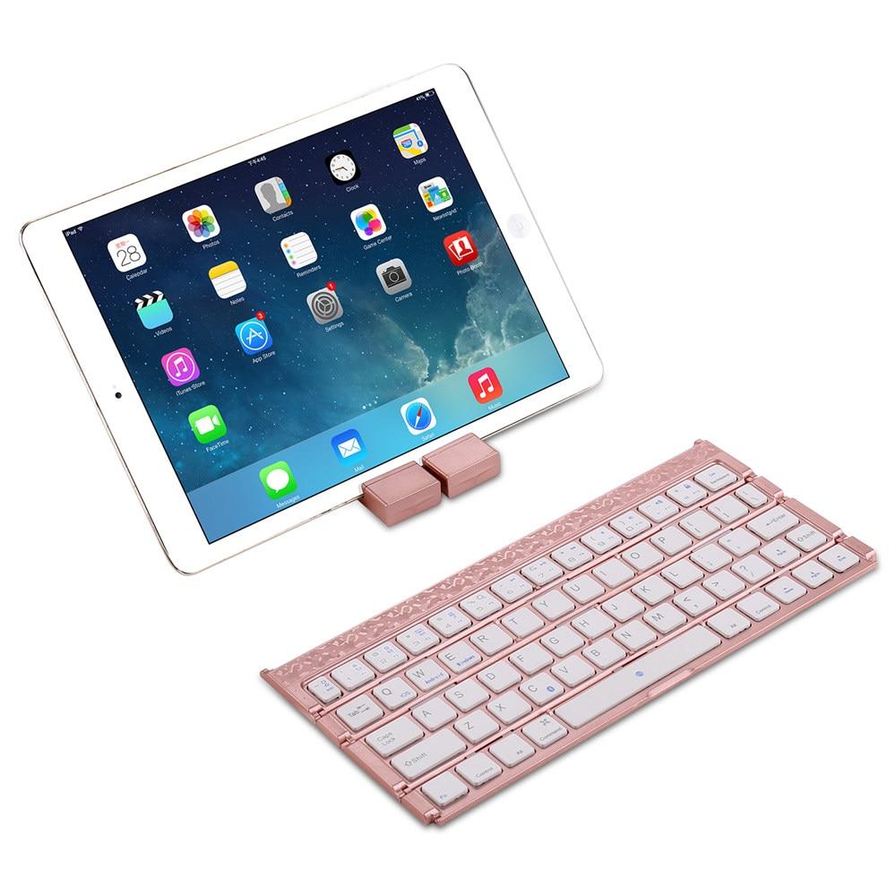 Pour Xiao mi mi pad mi Pad 1/2/3/4 Mince mi ni Quadruple Fold Portable rechargeable Sans Fil Bluetooth Russe Clavier Avec Support