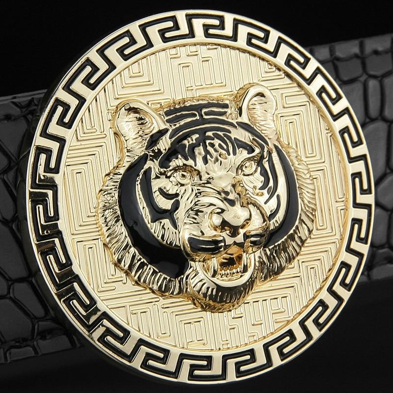 Designer belts men high quality luxury famous brand fashion Tiger belt genuine leather Waist Strap male cowhide casual gold belt
