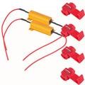 Top Quality 2PC 50W 6Ohm Car LED DRL Fog Turn Singal Load Resistor for Fix LED Bulb Jun.22
