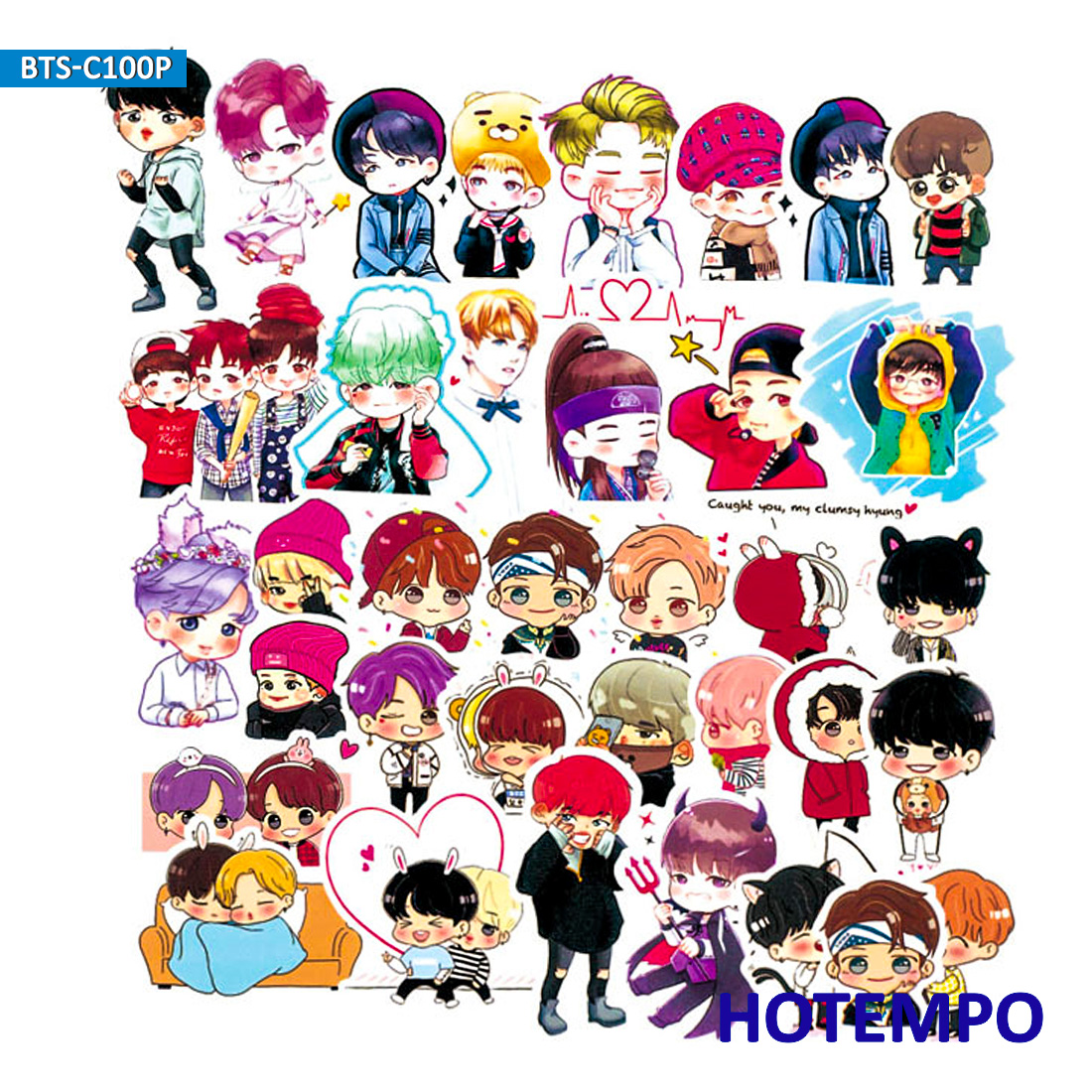 100pcs Fashion Kpop Stickers Boy Men Team For Girl Kids Gift DIY Letter Diary Scrapbooking Stationery Phone Case PVC Stickers