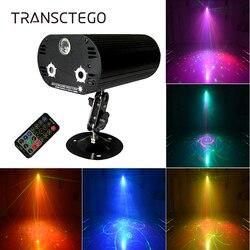 36 wzorów laser led projektor gwiazda światło dyskotekowe DJ RGB 3 obiektyw Mini stroboskop aktywowana dźwiękiem lampa sceniczna kryty Lumiere oświetlenie na imprezę