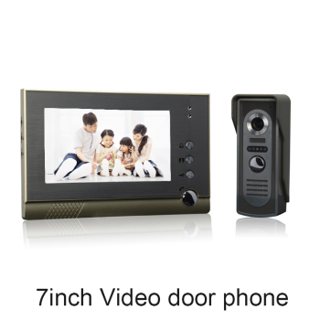 (1 set) Home use 1 to 1 Video door phone smart home system Video intercom waterproof camera 7 inch color monitor free shipping