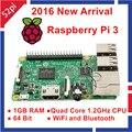 2016 Новые Оригинальные Raspberry Pi 3 Модель B 1 ГБ RAM Quad Core 1.2 ГГц 64bit ПРОЦЕССОРА Wi-Fi и Bluetooth