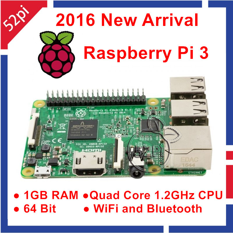 2016 New Original font b Raspberry b font Pi 3 Model B 1GB RAM Quad Core