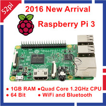 2016 Yeni Orijinal Raspberry Pi 3 Model B 1 GB RAM Quad Core 1.2 GHz 64bit CPU WiFi & Bluetooth