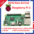 2016 Nova Original Raspberry Pi 3 Modelo B 1 GB RAM Quad Core 1.2 GHz CPU 64bit WiFi & Bluetooth