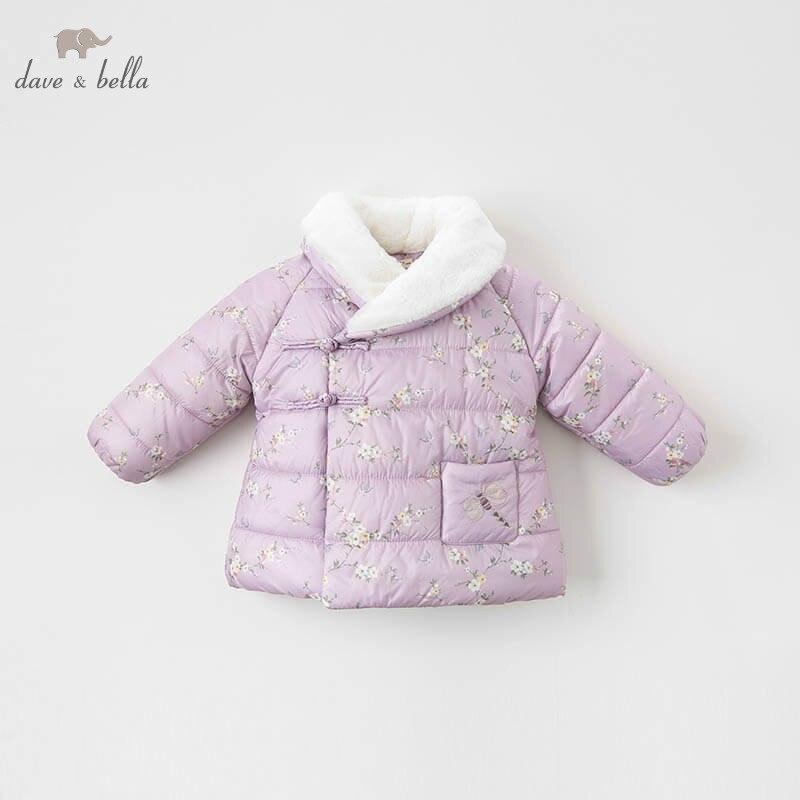 DBZ8984 Dave Bella детские куртки для девочек Детская верхняя одежда с длинным рукавом модное пальто
