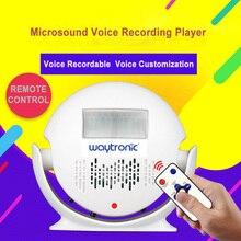 Kleine Beschreibbare Stimme Lautsprecher WAV Sound Aufnahme Player mit Infrarot Menschlichen Körper Motion Sensor Alarm Trockene Batterie Betrieben