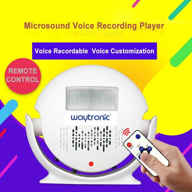 Piccolo Registrabile Altoparlante di Voce WAV Registrazione del Suono Player con Corpo Umano A Raggi Infrarossi Sensore di Movimento di Allarme Batteria A Secco