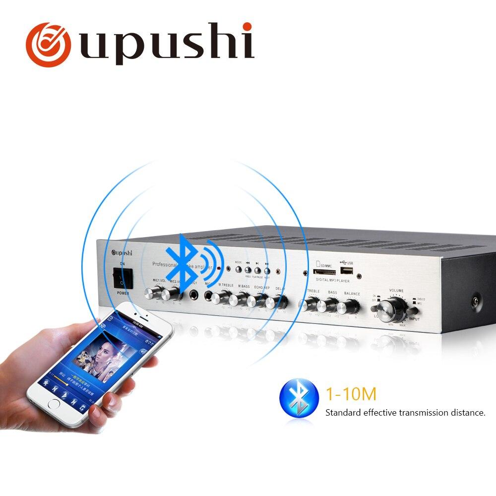 RüCksichtsvoll Oupushi Professionelle Karaoke Power Verstärker Bluetooths 80 80 W Misch Verstärker Beschallungsanlage/installation Klang
