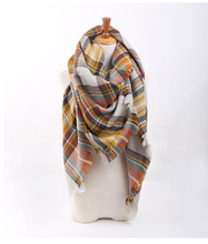 New Blanket rainbow Tartan Plaid Cozy Checked Tartan soft Blanket Scarf Shawl Hot