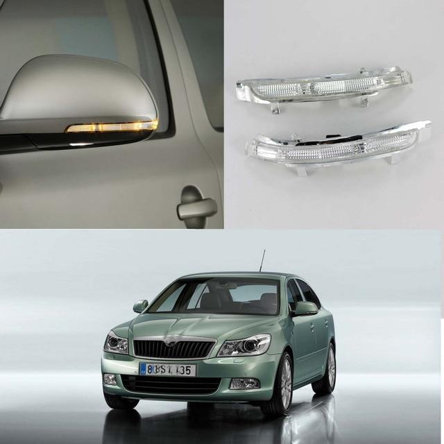 LED Mirror Light For Skoda Octavia A5 A6 2009 2010 2011 2012 2013 Car-Stying Rear Mirror LED Turn Signal Indicator Light Lamp