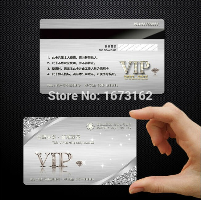 Dhl 500pcs custom vip pvc card printing membership loyalty cards dhl 500pcs custom vip pvc card printing membership loyalty cards member magnetic strip plastic card in business cards from office school supplies on reheart Gallery