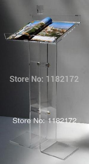 Acrylic podium pulpit lectern,Perspex Stand,Acrylic Lectern free shipping high quality price reasonable cleanacrylic podium pulpit lectern podium