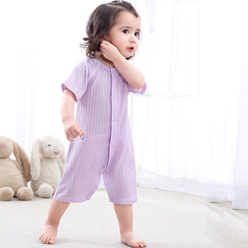 2018 zomer baby meisje rompertjes katoen baby meisje kleding korte - Babykleding - Foto 1