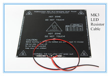 Новый RepRap 3D принтер PCB MK3 heatbed + из светодиодов + резистора + кабель алюминиевый нагретый слой 214 * 214 * 3 мм диаметр , как MK2B