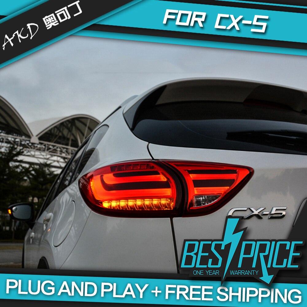 AKD carros tuning luzes Da Cauda Para A Mazda CX-5 CX5 2013-2016 Luzes Traseiras LED DRL luzes Diurnas luzes de Nevoeiro anjo olhos de estacionamento Traseiro