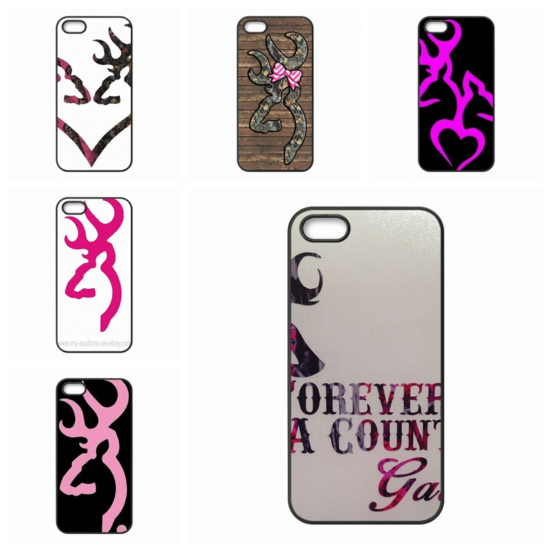 Pink Browning Deer Camo For Samsung Galaxy S2 S3 S4 S5 S6 S7 edge mini Active Ace Ace2 Ace3 Ace4 Cell Phone <