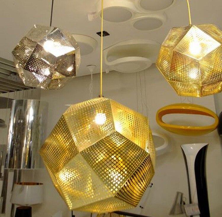 Golden Pendant Light Metal Body Creative Nordic Irom Hanging Pendant Lamp  Suspender Multiple Light Fixtures Drop