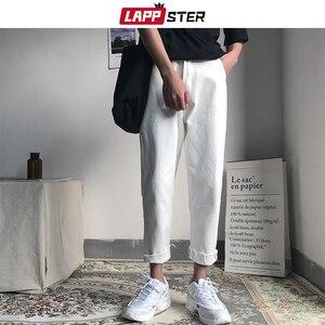 Image 2 - LAPPSTER mężczyźni koreański mody obcisłe dżinsy rurki spodnie 2020 lato Streetwaer Hip Hop Skinny dżinsy męskie proste niebieskie spodnie